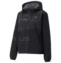 ДАМСКО ЯКЕ PUMA RUN GRAPHIC HOODED JACKET W BLACK