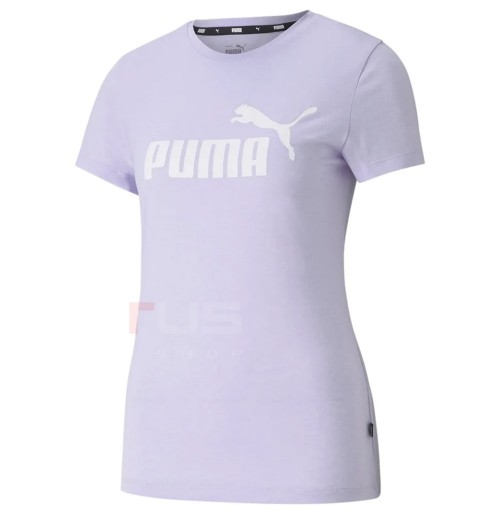 ДАМСКА ТЕНИСКА PUMA ESS LOGO HEATHER TEE LAVENDER