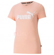 ДАМСКА ТЕНИСКА PUMA ESS LOGO HEATHER TEE APRICOT