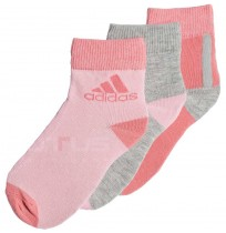 ДЕТСКИ ЧОРАПИ ADIDAS LK ANKLE S 3PP ROSE/GREY/PINK
