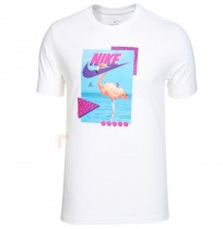 МЪЖКА ТЕНИСКА NIKE NSW TEE BEACH FLAMINGO WHITE