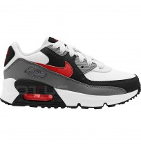 ДЕТСКИ МАРАТОНКИ NIKE AIR MAX 90 LTR PS WHITE/GREY/RED