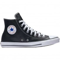 КЕЦОВЕ CONVERSE CHUCK TAYLOR ALL STAR LEATHER BLACK/WHITE
