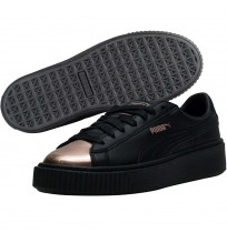 ДАМСКИ ОБУВКИ PUMA BASKET PLATFORM METALLIC FOOTWEAR BLACK