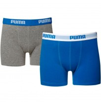ДЕТСКИ БОКСЕР PUMA BASIC BOXER 2P INK/TURQ