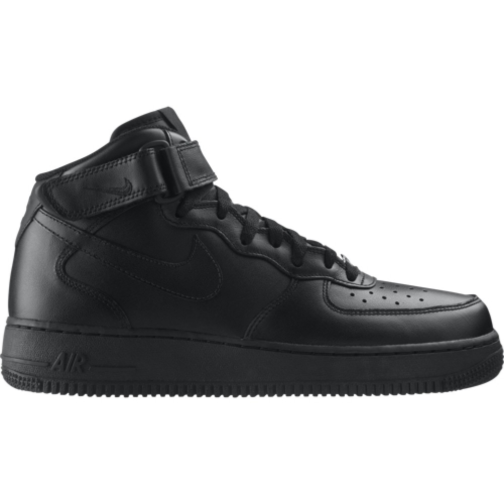 6cd406a4557 МЪЖКИ КЕЦОВЕ NIKE AIR FORCE 1 MID 07 BLACK | Lotus Sport